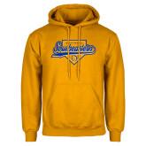 Gold Fleece Hoodie-Southeastern Softball Script