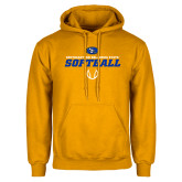Gold Fleece Hoodie-Savage Storm Softball Icon