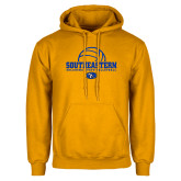 Gold Fleece Hoodie-Southeastern Volleyball with Ball