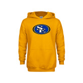 Youth Gold Fleece Hoodie-SE Primary Logo