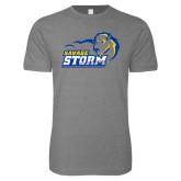 Next Level SoftStyle Heather Grey T Shirt-New Primary Logo