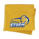 Gold Sweatshirt Blanket-New Primary Logo
