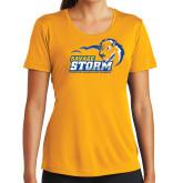 Ladies Syntrel Performance Gold Tee-New Primary Logo