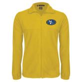 Fleece Full Zip Gold Jacket-SE Primary Logo
