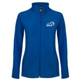 Ladies Fleece Full Zip Royal Jacket-New Primary Logo Embroidery