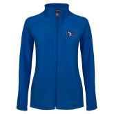 Ladies Fleece Full Zip Royal Jacket-SE Primary Logo