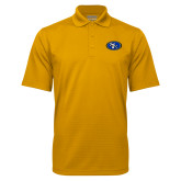 Gold Mini Stripe Polo-SE Primary Logo