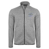 Grey Heather Fleece Jacket-New Primary Logo Embroidery