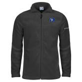 Columbia Full Zip Charcoal Fleece Jacket-SE Primary Logo