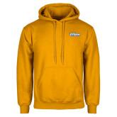 Gold Fleece Hoodie-Savage Storm Word Mark
