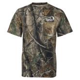 Realtree Camo T Shirt w/Pocket-New Primary Logo Embroidery