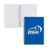 Clear 7 x 10 Spiral Journal Notebook-New Primary Logo