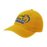 Gold Flexfit Mid Profile Hat-New Primary Logo Embroidery