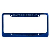 Metal Blue License Plate Frame-Savage Storm