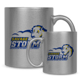 Full Color Silver Metallic Mug 11oz-New Primary Logo