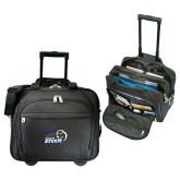 Embassy Plus Rolling Black Compu Brief-New Primary Logo Embroidery