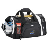 High Sierra Black 22 Inch Garrett Sport Duffel-New Primary Logo Embroidery