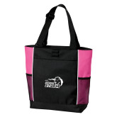 Black/Tropical Pink Panel Tote-New Primary Logo Embroidery