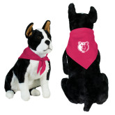 Fuchsia Pet Bandana-Bear Head
