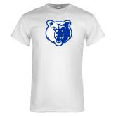 White T Shirt-Bear Head