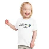 Toddler White T Shirt-Instituitonal Mark