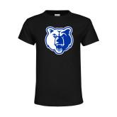 Youth Black T Shirt-Bear Head
