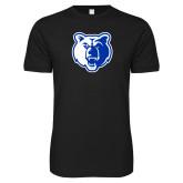 Next Level SoftStyle Black T Shirt-Bear Head