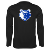 Performance Black Longsleeve Shirt-Bear Head