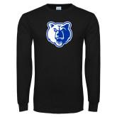 Black Long Sleeve T Shirt-Bear Head