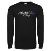 Black Long Sleeve T Shirt-Instituitonal Mark