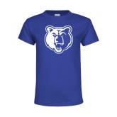 Youth Royal T Shirt-Bear Head