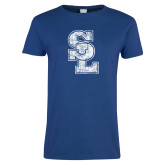 Ladies Royal T Shirt-SL Distressed
