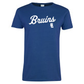 Ladies Royal T Shirt-Bruins Script