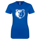 Next Level Ladies SoftStyle Junior Fitted Royal Tee-Bear Head