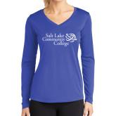 Ladies Syntrel Performance Royal Longsleeve Shirt-Instituitonal Mark