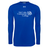 Under Armour Royal Long Sleeve Tech Tee-Instituitonal Mark