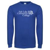 Royal Long Sleeve T Shirt-Instituitonal Mark