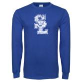 Royal Long Sleeve T Shirt-SL Distressed