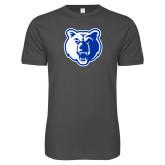 Next Level SoftStyle Charcoal T Shirt-Bear Head