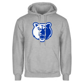 Grey Fleece Hoodie-Bear Head