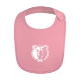 Light Pink Baby Bib-Bear Head