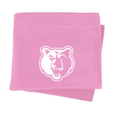 Pink Sweatshirt Blanket-Bear Head