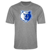 Performance Grey Heather Contender Tee-Bear Head