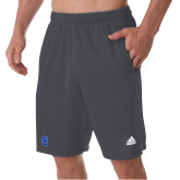 Adidas Charcoal Clima Tech Pocket Short-Primary Mark