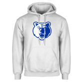 White Fleece Hoodie-Bear Head