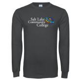 Charcoal Long Sleeve T Shirt-Instituitonal Mark