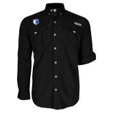 Columbia Bahama II Black Long Sleeve Shirt-Bear Head