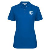 Ladies Easycare Royal Pique Polo-Bear Head