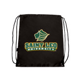 Black Drawstring Backpack-Saint Leo University - Official Logo