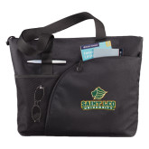 Excel Black Sport Utility Tote-Saint Leo University - Official Logo